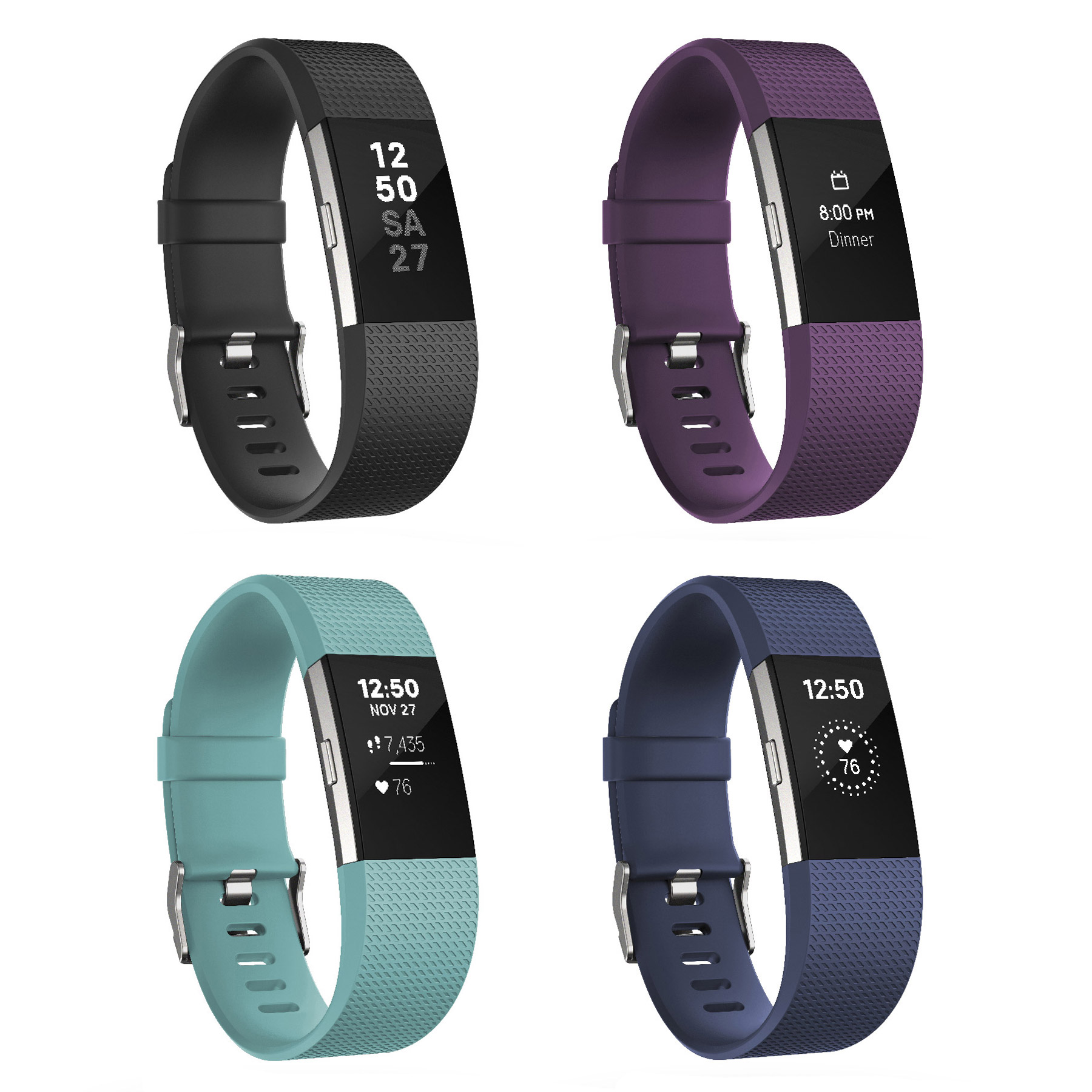 fitbit charge 2 lederarmband zubeh r braun indigo. Black Bedroom Furniture Sets. Home Design Ideas