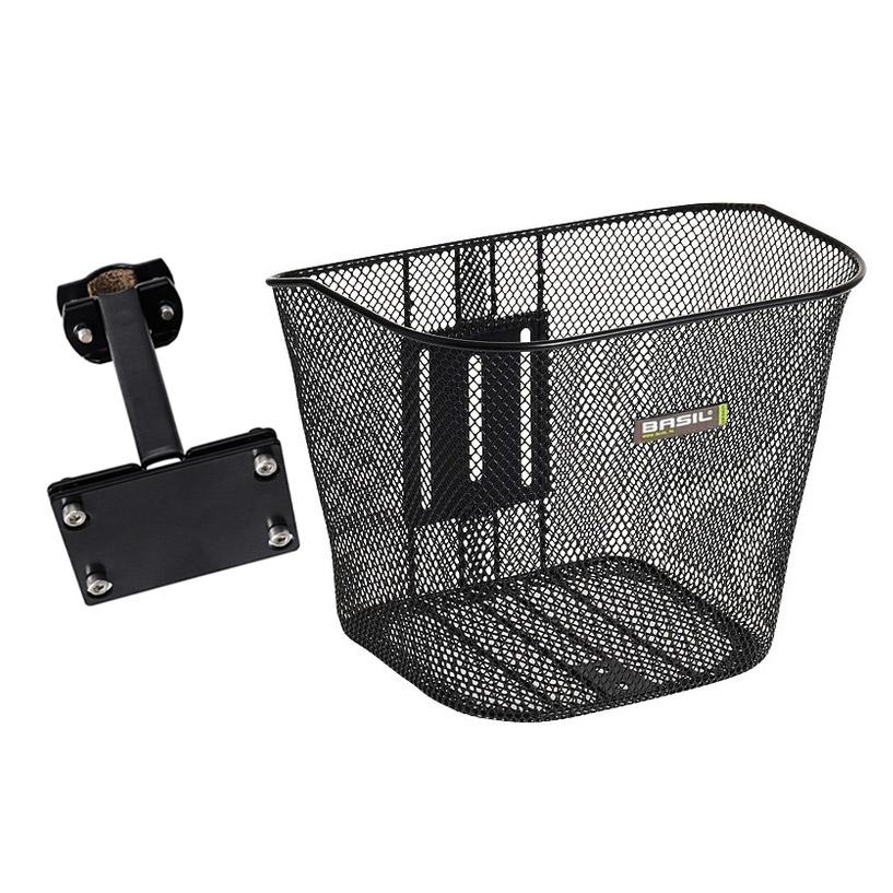 basil bremen fahrradkorb vorne mit halterung schwarz ebay. Black Bedroom Furniture Sets. Home Design Ideas