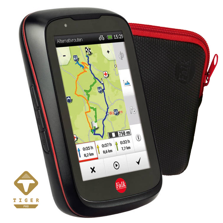 falk tiger pro fahrradnavigation wandernavigation gps. Black Bedroom Furniture Sets. Home Design Ideas